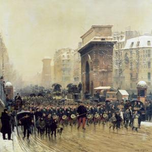 The Passing Regiment, 1875 by Jean-Baptiste Edouard Detaille