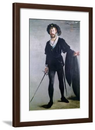 Jean Baptiste Faure (1830-1914) as Hamlet, 1877-Edouard Manet-Framed Giclee Print