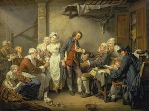The Village Agreement by Jean Baptiste Greuze