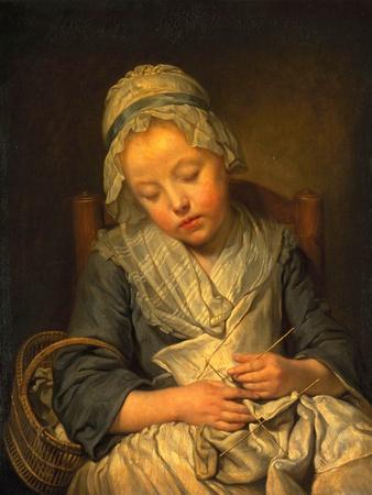 Young Knitter Asleep, C.1759