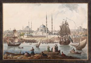 The Yeni Cami and the Port of Istanbul, Second Half of the 18th C by Jean-Baptiste Hilair