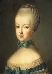 Portrait of Marie Antoinette by Jean-Baptiste Huet