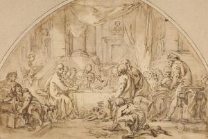 Study for the Last Supper, C.1792 by Jean-Baptiste Huet