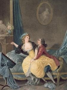 'The Broken Fan', end eighteenth century by Jean-Baptiste Huet
