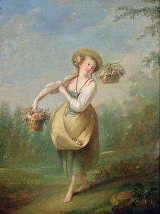 The Flower Girl by Jean-Baptiste Huet