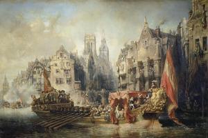 The Arrival of Fernando Alvarez De Toledo, Duke of Alba at Rotterdam in 1567, 1844 by Jean-Baptiste Isabey