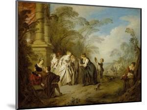 The Fortune Teller, 1731 by Jean-Baptiste Joseph Pater