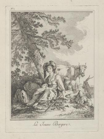 The Young Shepherdess, Plate Two from Divers Habillements Des Peuples Du Nord, 1765