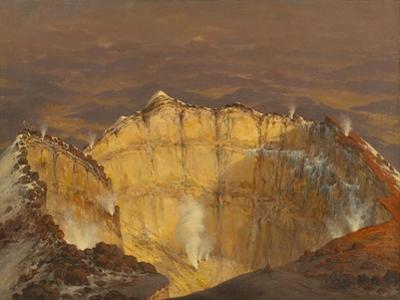 Crater of Popocatépetl, 1833 by Jean Baptiste Louis Gros