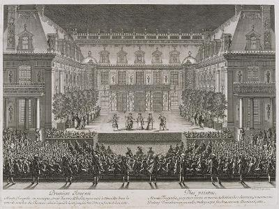 Jean-Baptiste Lully's Opera Alceste Being Performed in the Marble Courtyard-Jean le Pautre-Giclee Print