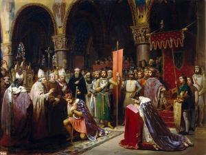 King Louis VII Takes the Standard at Saint-Denis by Jean-Baptiste Mauzaisse