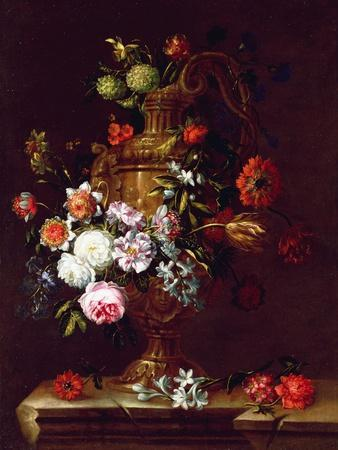 Still Life of flowers in an Urn, 17th century
