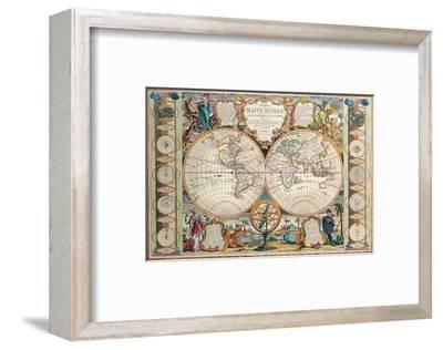 Antique Map, Mappe Monde, 1755