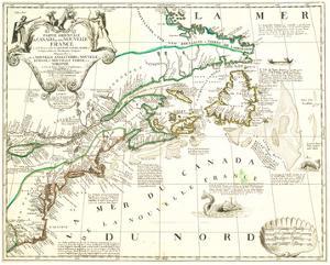 Nouvelle France Québec Canada by Jean Baptiste Nolin