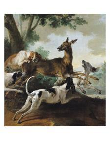 A Deer Chased by Dogs, 1725 by Jean-Baptiste Oudry