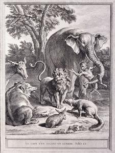 Der Löwe, der in den Krieg ziehen wollte (Le Lion s'en allant en Guerre) by Jean-Baptiste Oudry