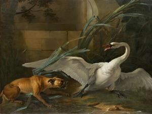 Swan Attacked by a Dog, 1745 by Jean-Baptiste Oudry