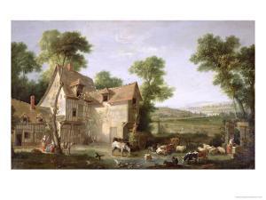 The Farm, 1750 by Jean-Baptiste Oudry