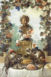 Still Life with Monkey, Fruits, and Flowers, 1724-Jean-Baptiste Oudry-Mounted Giclee Print