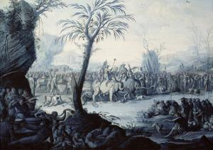 Chinoiserie Landscape with Figures and Animals by Jean Baptiste Pillement