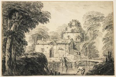 Landscape with a Cottage and Peasants, C. 1770