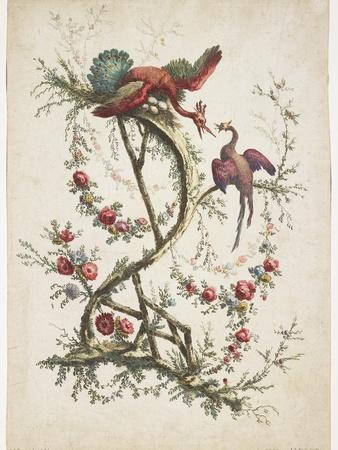 Ornament. Chinoiserie. Flowers and Birds., 1770