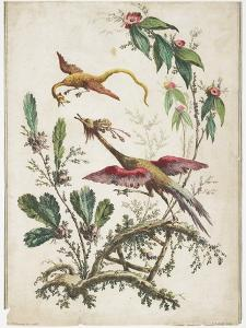 Ornament. Chinoiserie. Flowers and Birds., 1770 by Jean Baptiste Pillement