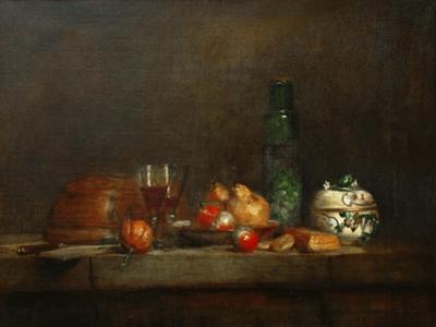 A Bowl of Olives by Jean-Baptiste Simeon Chardin