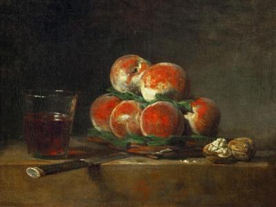Basket of Peaches by Jean-Baptiste Simeon Chardin