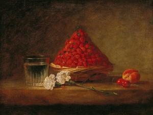 Basket with Wild Strawberries, circa 1761 by Jean-Baptiste Simeon Chardin