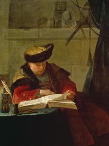 Chemiker in Seinem Labor, Le Souffleur by Jean-Baptiste Simeon Chardin
