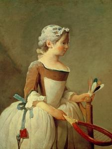 Girl with Racket and Shuttlecock, c.1740 by Jean-Baptiste Simeon Chardin