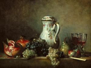 Grapes and Pomegranates by Jean-Baptiste Simeon Chardin
