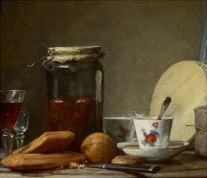 Jar of Apricots, 1758 by Jean-Baptiste Simeon Chardin