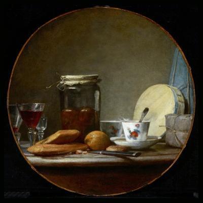Jar of Apricots. 1758 by Jean-Baptiste Simeon Chardin
