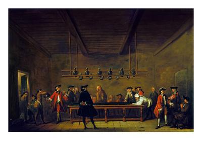 Paris: Billiards, 1725