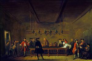 Paris: Billiards, 1725 by Jean-Baptiste Simeon Chardin