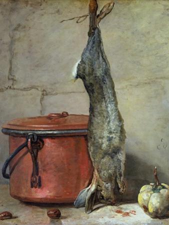 Rabbit and Copper Pot C.1739-40 by Jean-Baptiste Simeon Chardin