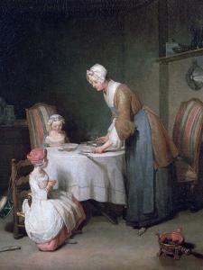 Saying Grace, 1744 by Jean-Baptiste Simeon Chardin