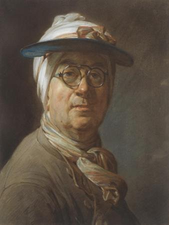 Self Portrait with a Visor, C.1776 by Jean-Baptiste Simeon Chardin