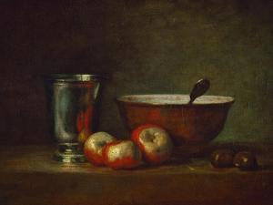 Silver Goblet with Apples by Jean-Baptiste Simeon Chardin