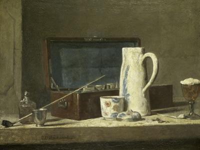 Smoking Kit with a Drinking Pot by Jean-Baptiste Simeon Chardin