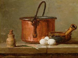 Still Life, C.1732 (Oil on Panel) by Jean-Baptiste Simeon Chardin