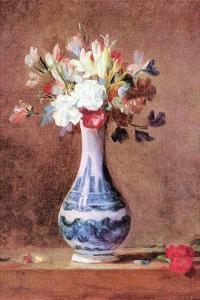 Still Life of Flowers in a Vase by Jean-Baptiste Simeon Chardin