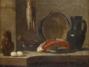 Still Life of Kitchen Utensils, C.1733-34 by Jean-Baptiste Simeon Chardin