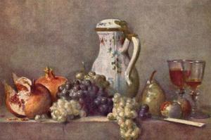 Still Life with a Porcelain Jug by Jean-Baptiste Simeon Chardin