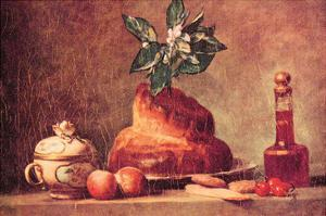 Still Life with Brioche by Jean-Baptiste Simeon Chardin