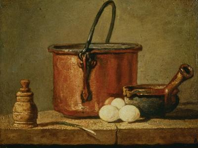 Still Life with Copper Vessel by Jean-Baptiste Simeon Chardin