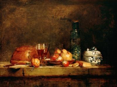 Still Life with Fruit and Glass of Olives