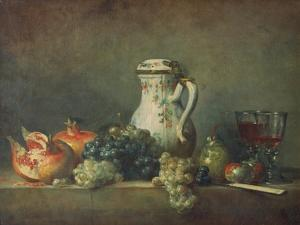Still Life with Grapes and Pomegranates, 1763 by Jean-Baptiste Simeon Chardin